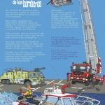 Los vehículos de los bomberos